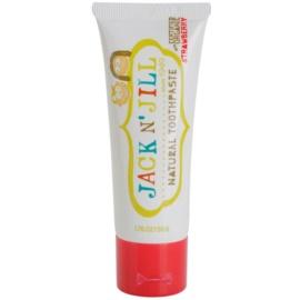 Jack N' Jill Natural натуральна зубна паста для дітей з ароматом полуниці  50 гр