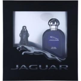 Jaguar Evolution dárková sada I. toaletní voda 100 ml + nabíječka do auta