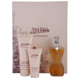 Jean Paul Gaultier Classique dárková sada V. toaletní voda 50 ml + tělové mléko 75 ml + sprchový gel 30 ml