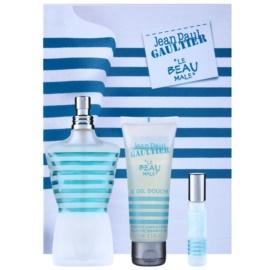Jean Paul Gaultier Le Beau Male darilni set IV. toaletna voda 125 ml + gel za prhanje 75 ml + toaletna voda 9 ml