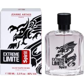 Jeanne Arthes Extreme Limite Spirit Eau de Toilette para homens 100 ml