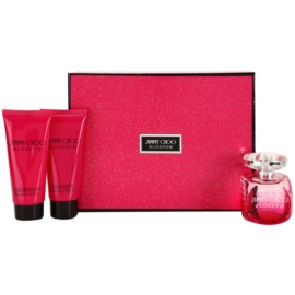 Jimmy Choo Blossom darčeková sada I. parfémovaná voda 100 ml + telové mlieko 100 ml + sprchový gel 100 ml