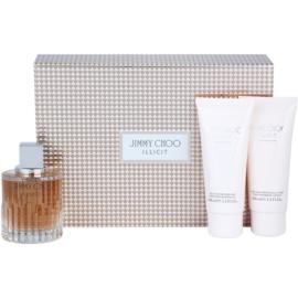 Jimmy Choo Illicit подаръчен комплект I. парфюмна вода 100 ml + мляко за тяло 100 ml + душ гел 100 ml