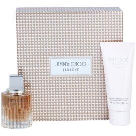 Jimmy Choo Illicit подаръчен комплект II. парфюмна вода 60 ml + мляко за тяло 100 ml