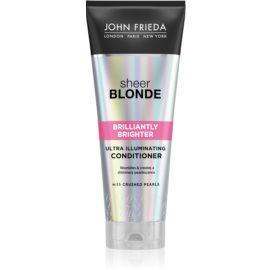 John Frieda Sheer Blonde Brilliantly Brighter balzam za oživitev blond barve las z bisernim sijajem  250 ml