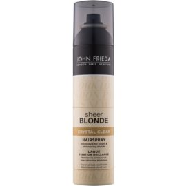 John Frieda Sheer Blonde Crystal Clear lacca per capelli biondi e con mèches  250 ml
