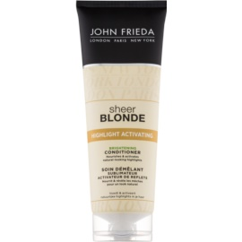 John Frieda Sheer Blonde Highlight Activating condicionador iluminador para cabelo loiro e grisalho  250 ml