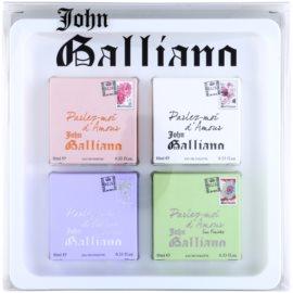 John Galliano Mini zestaw upominkowy I.  woda toaletowa 3 x 10 ml + woda perfumowana 10 ml