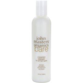 John Masters Organics Bare Unscented kondicionér pro všechny typy vlasů bez parfemace  236 ml