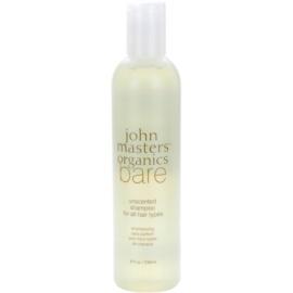 John Masters Organics Bare Unscented sampon minden hajtípusra parfümmentes  236 ml
