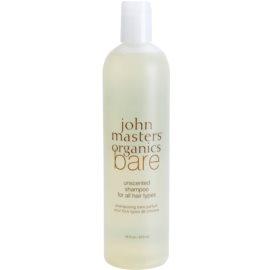John Masters Organics Bare Unscented sampon minden hajtípusra parfümmentes  473 ml
