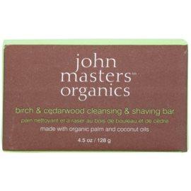John Masters Organics Birch & Cedarwood  milo za čiščenje in britje za moške in ženske  128 g