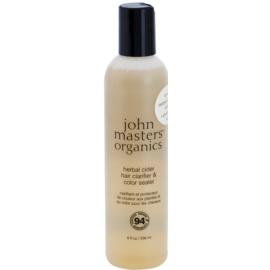John Masters Organics Herbal Cider čisticí vlasová péče pro fixaci barvy  236 ml
