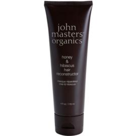 John Masters Organics Honey & Hibiscus erneuernde Maske zur Stärkung der Haare  118 ml