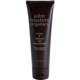 John Masters Organics Honey & Hibiscus obnovující maska pro posílení vlasů  118 ml