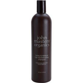 John Masters Organics Honey & Hibiscus szampon odbudowujący włosy do wzmocnienia włosów  473 ml