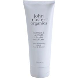 John Masters Organics Lavender & Avocado intenzivní kondicionér pro suché a poškozené vlasy  207 ml