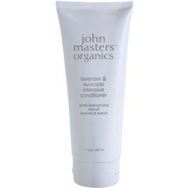 John Masters Organics Lavender & Avocado odżywka o silnym działaniu do włosów suchych i zniszczonych  207 ml