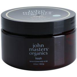 John Masters Organics Lemon & Lime osvěžující tělový peeling pro jemnou a hladkou pokožku  136 g