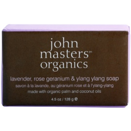 John Masters Organics Lavender Rose Geranium &  Ylang Ylang Moisturizing Soap For Face And Body  128 g