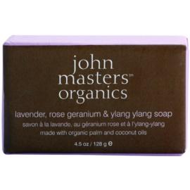 John Masters Organics Lavender Rose Geranium &  Ylang Ylang hydratačné mydlo na tvár a telo  128 g