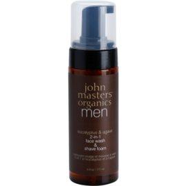 John Masters Organics Men espuma de limpeza e de barbear 2 em 1  177 ml