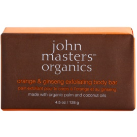 John Masters Organics Orange & Ginseng Gentle Body Exfoliating Soap  128 g