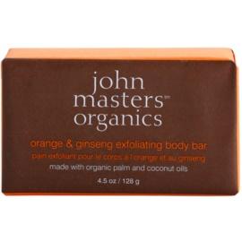 John Masters Organics Orange & Ginseng sanfte Peelingseife für den Körper  128 g