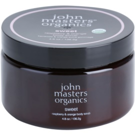 John Masters Organics Sweet Raspberry & Orange Body Scrub for Soft and Smooth Skin  136 g