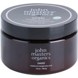 John Masters Organics Sweet Raspberry & Orange exfoliante corporal para dejar la piel suave y lisa  136 g