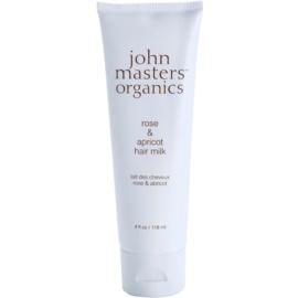 John Masters Organics Rose & Apricot bezoplachové mléko na suché konečky vlasů  118 ml