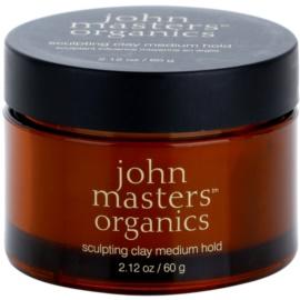 John Masters Organics Sculpting Clay Medium Hold pasta moldeadora de acabado mate  60 g