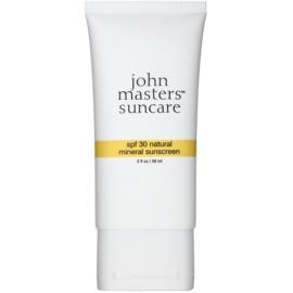 John Masters Organics Sun Care ochranný krém s minerálními UV filtry SPF 30  59 ml