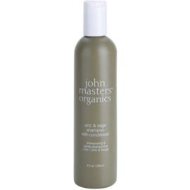 John Masters Organics Zinc & Sage Shampoo und Conditioner 2 in 1 für gereizte Kopfhaut  236 ml