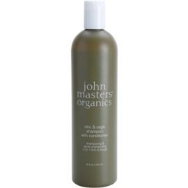 John Masters Organics Zinc & Sage champô e condicionador 2 em 1 para couro cabeludo irritado  473 ml