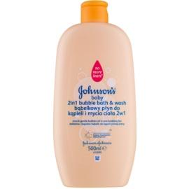 Johnson's Baby Wash and Bath bain moussant et gel lavant 2 en 1  500 ml