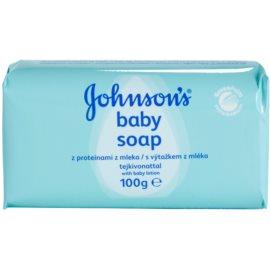 Johnson's Baby Wash and Bath mýdlo s výtažkem z mléka pro děti  100 g