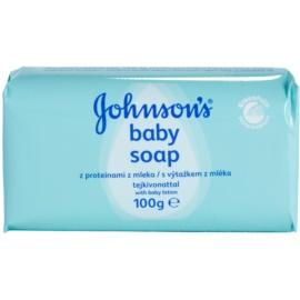 Johnson's Baby Wash and Bath mydlo s výťažkom z mlieka pre deti  100 g