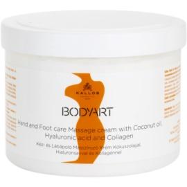 Kallos BodyArt crema para masaje para manos y pies  500 ml