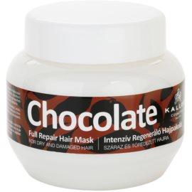 Kallos Chocolate máscara regeneradora para cabelo seco a danificado  275 ml