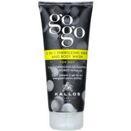 Kallos Gogo gel de ducha energizante para cuerpo y cabello  200 ml