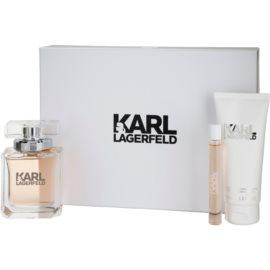 Karl Lagerfeld Karl Lagerfeld for Her ajándékszett III. Eau de Parfum 85 ml + roll-on 10 ml + testápoló tej 100 ml