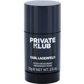 Karl Lagerfeld Private Klub desodorante en barra para hombre 75 g