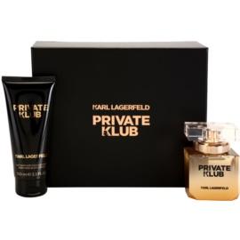 Karl Lagerfeld Private Klub dárková sada I. parfémovaná voda 45 ml + tělové mléko 100 ml
