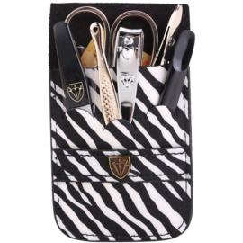Kellermann Manicure zestaw do perfekcyjnego manicure zebra  6 szt.