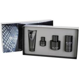 Kenneth Cole Black coffret cadeau III. eau de toilette 100 ml + eau de toilette 15 ml + baume après-rasage 100 ml + déodorant stick 75 g