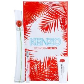 Kenzo Flower by Kenzo ajándékszett XV.   Eau de Parfum 100 ml + Eau de Parfum 15 ml + testápoló tej 50 ml