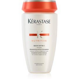 Kérastase Nutritive Bain Satin 1 šamponska kopel za sijaj in zaščito barve normalnih do rahlo poškodovanih barvanih las  250 ml