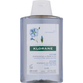Klorane Flax Fiber шампунь для тонкого та ослабленого волосся  200 мл