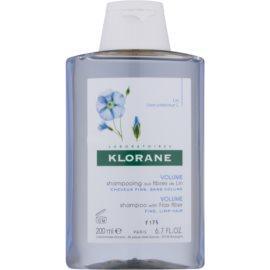 Klorane Flax Fiber Shampoo für sanfte und müde Haare  200 ml